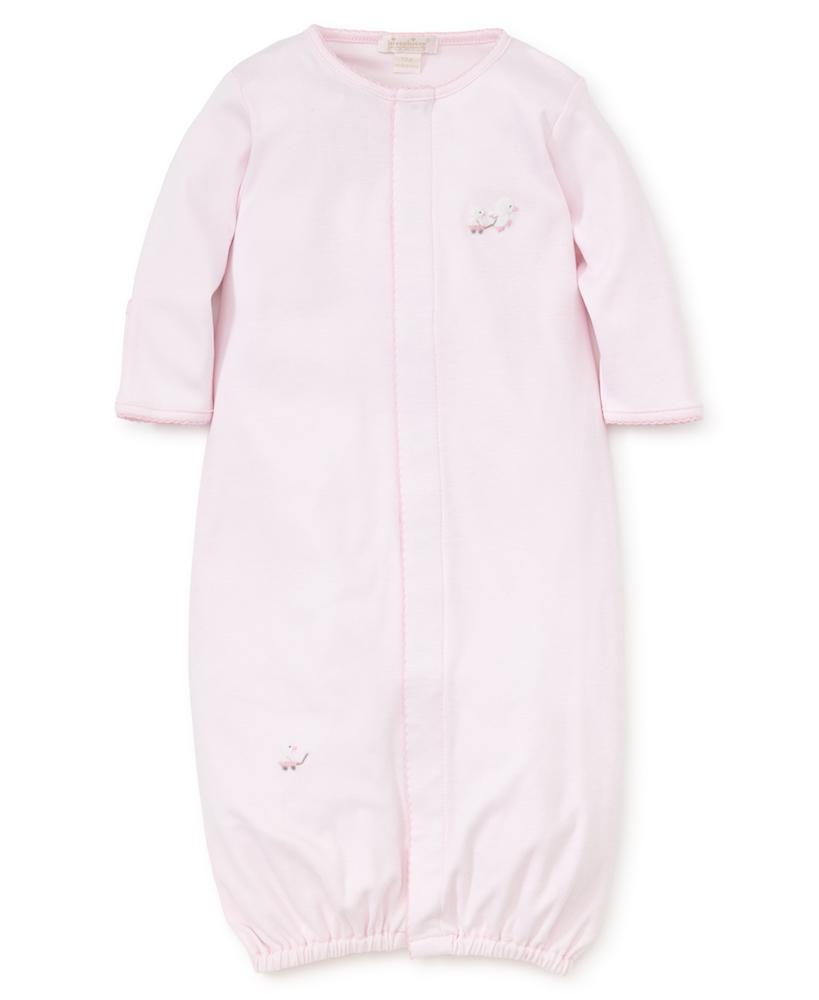 Kissy Kissy Baby Girls Pink Toy Ducks Embroidered Converter Gown