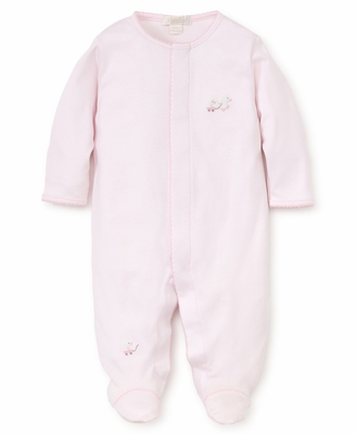Kissy Kissy Baby Girls Pink Toy Ducks Embroidered Footie