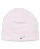 Kissy Kissy Baby Girls Pink Toy Ducks Embroidered Hat