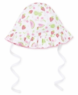 Kissy Kissy Baby Girls Pink Tutti Frutti Fruit Print Floppy Sun Hat