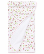 Kissy Kissy Baby Girls Pink Tutti Frutti Fruit Print Receiving Blanket