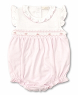 Kissy Kissy Baby Girls Pink / White Smocked Bubble