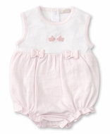 Kissy Kissy Baby Girls Premier Cottontails Pink Check Bunny Bubble