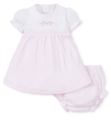 Kissy Kissy Baby Girls Premier Garden Parade Pink Smocked Dress Set