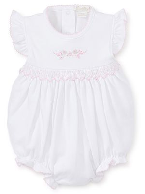 Kissy Kissy Baby Girls Premier Garden Parade Smocked White Bubble