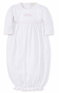 Kissy Kissy Baby Girls Premier Garden Parade White Smocked Gown