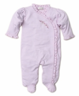 Kissy Kissy Baby Girls Premier Pink Vines Footie