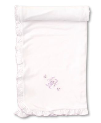 Kissy Kissy Baby Girls Premier Summer Bouquet Blanket - Lilac Embroidery