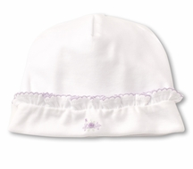 Kissy Kissy Baby Girls Premier Summer Bouquet Hat - Lilac Embroidery