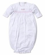 Kissy Kissy Baby Girls Premier Vines White Sack Gown
