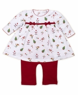Kissy Kissy Baby Girls Red Holidaze Christmas Print Dress Set