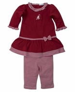 Kissy Kissy Baby Girls Red Striped Kris Kringle Santa Dress Set