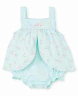 Kissy Kissy Baby Girls Summer Cheer Mint Green / Pink Floral Bubble