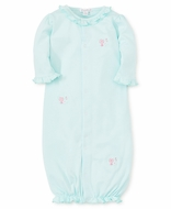 Kissy Kissy Baby Girls Summer Cheer Mint Green Converter Gown - Pink Embroidery