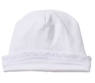 Kissy Kissy Baby Girls Sweet White Crochet Lace Trim Homecoming Hat
