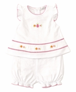Kissy Kissy Baby Girls White / Hot Pink Prismatic Pineapples Sunsuit Bloomer Set
