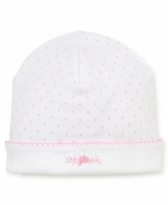 Kissy Kissy Baby Girls White / Pink Dots Premier Rose Heart Hat