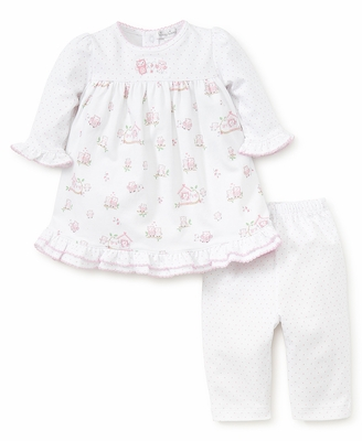Kissy Kissy Baby Girls White / Pink Wonderfully Wise Owls Dress Set