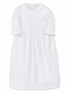 Kissy Kissy Baby Girls White Special Occasion Collection Smocked Day Gown