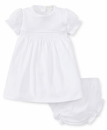 Kissy Kissy Baby Girls White Special Occasion Collection Smocked Dress Set