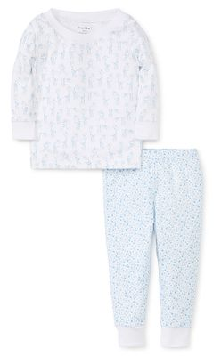 Kissy Kissy Baby / Toddler Boys Blue Giraffes Pajamas