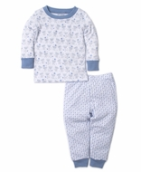 Kissy Kissy Baby / Toddler Boys Monkey Moves / Stars Pajamas - Blue