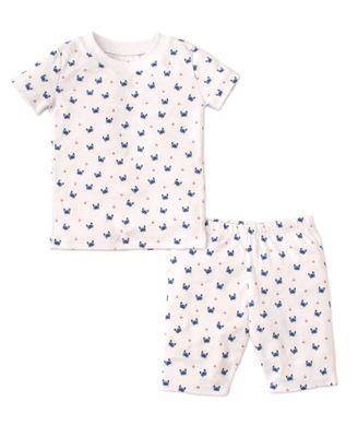 Kissy Kissy Boys Blue Crab Craze Print Snug Fit Short Pajamas