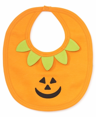 Kissy Kissy Boys / Girls Orange Bewitched Halloween Pumpkin Bib