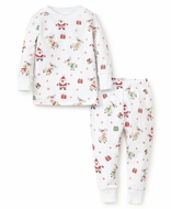 Kissy Kissy Boys / Girls Santa Print Christmas Pajamas