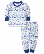 Kissy Kissy Boys Jazzy Jungle Long Pajamas - Blue