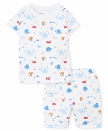 Kissy Kissy Boys Under the Sea Print Short Pajamas - Blue