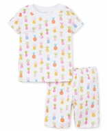 Kissy Kissy Girls Colorful Pineapples Print Short Pajamas