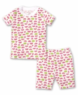 Kissy Kissy Girls Hot Pink Whimsical Watermelons Short Pajamas