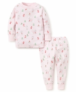 Kissy Kissy Girls Snow Day Snowman Print Pajamas - Pink