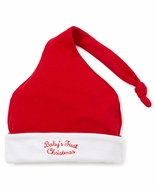Kissy Kissy Infant Boys / Girls Red Baby's First Christmas Stocking Hat