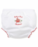 Kissy Kissy Infant Girls Baby's First Christmas Diaper Cover
