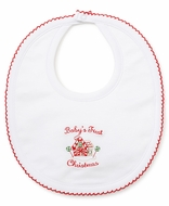 Kissy Kissy Infant Girls / Boys Baby's First Christmas Bib