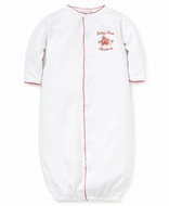 Kissy Kissy Infant Girls / Boys White Baby's First Christmas Converter Gown