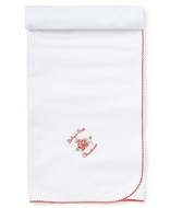 Kissy Kissy Infant Girls / Boys White Baby's First Christmas Receiving Blanket