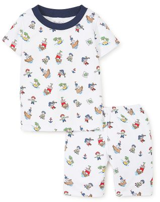 Kissy Kissy Little Boys Blue Pirate Treasure Print Short Pajamas