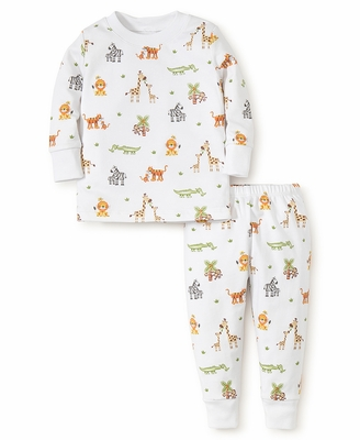 Kissy Kissy Little Boys Jolly Jungle Safari Animals Print Pajamas