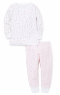 Kissy Kissy Little Girls Pink Giraffes & Dots Pajamas