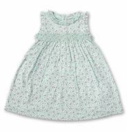 Kissy Kissy Toddler Girls Floral Smocked Dress - Mint Green