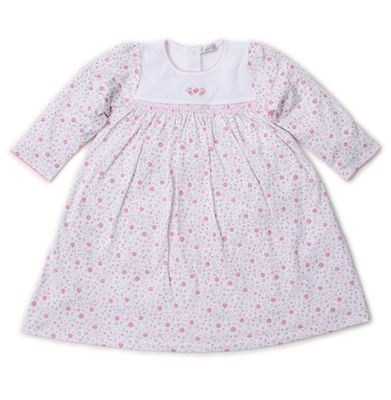 Kissy Kissy Toddler Girls Garden Treasure Pink Floral Smocked Dress