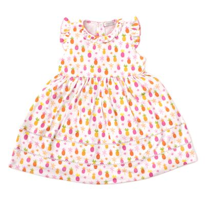 Kissy Kissy Toddler Girls Hot Pink Prismatic Pineapples Dress