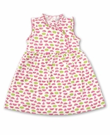Kissy Kissy Toddler Girls Hot Pink Whimsical Watermelons Dress