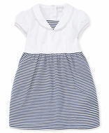 Kissy Kissy Toddler Girls Navy Blue Striped Summer Sails Sailor Dress