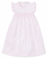 Kissy Kissy Toddler Girls Pink Mini Blooms Smocked Dress