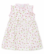 Kissy Kissy Toddler Girls Pink Tutti Frutti Fruit Print Ruffle Dress