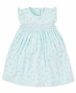 Kissy Kissy Toddler Girls Summer Cheer Mint Green / Pink Floral Smocked Dress
